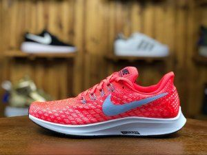 801a10c2cf2f2 Mens Nike Air Zoom Pegasus 35 Bright Crimson Gym Red Football Grey Gridiron  942851 600 Running