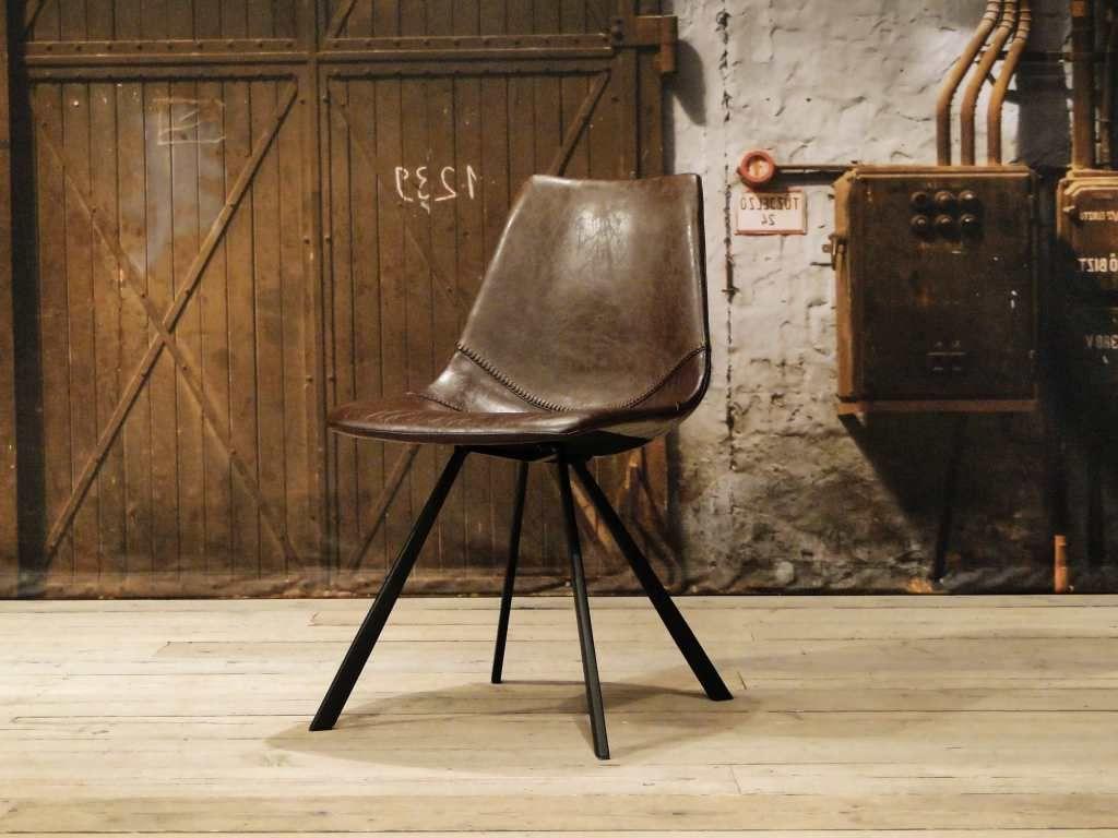 Vintage stoel en andere leren eetkamerstoelen vindt u bij ons ...