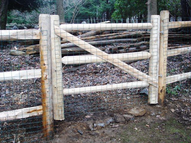 3 Rail Round Rail Post And Rail Gate Wood Fence Garden Yard Ideas Northern White Cedar