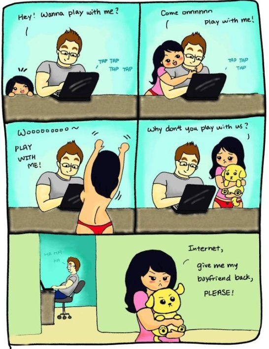 Internet Vs Girlfriend Www Meme Lol Com Funny Pictures For Kids Funny Baby Images Funny Relationship Memes