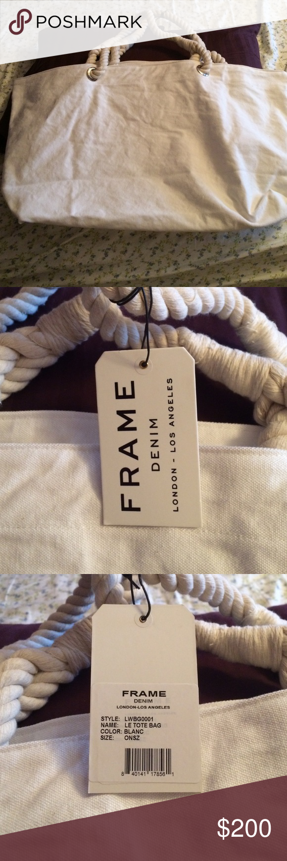 Frame London Oversized Tote From Paris I won it in a shopping spree in Paris!! This is designer label, Worn by Beyoncé, Kim Kardashian, you can google the store Frame Denim! FRAME DENIM Bags Totes