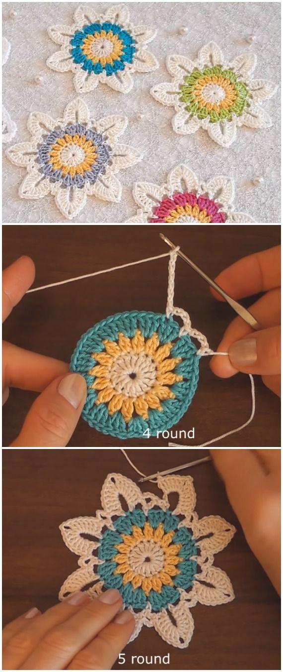 Photo of Crochet Easy Flower Motif