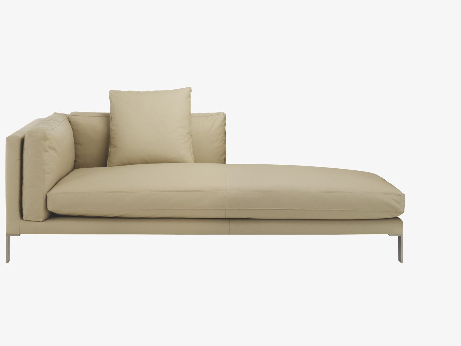 newman neutral leather cream leather right arm chaise longue habitatuk les autres choses. Black Bedroom Furniture Sets. Home Design Ideas