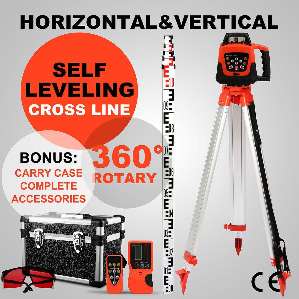Self Levelling Horizontal Vertical 500m Laser Level Tool Rotary Red Beam Ebay Link Laser Levels Green Laser Tripod