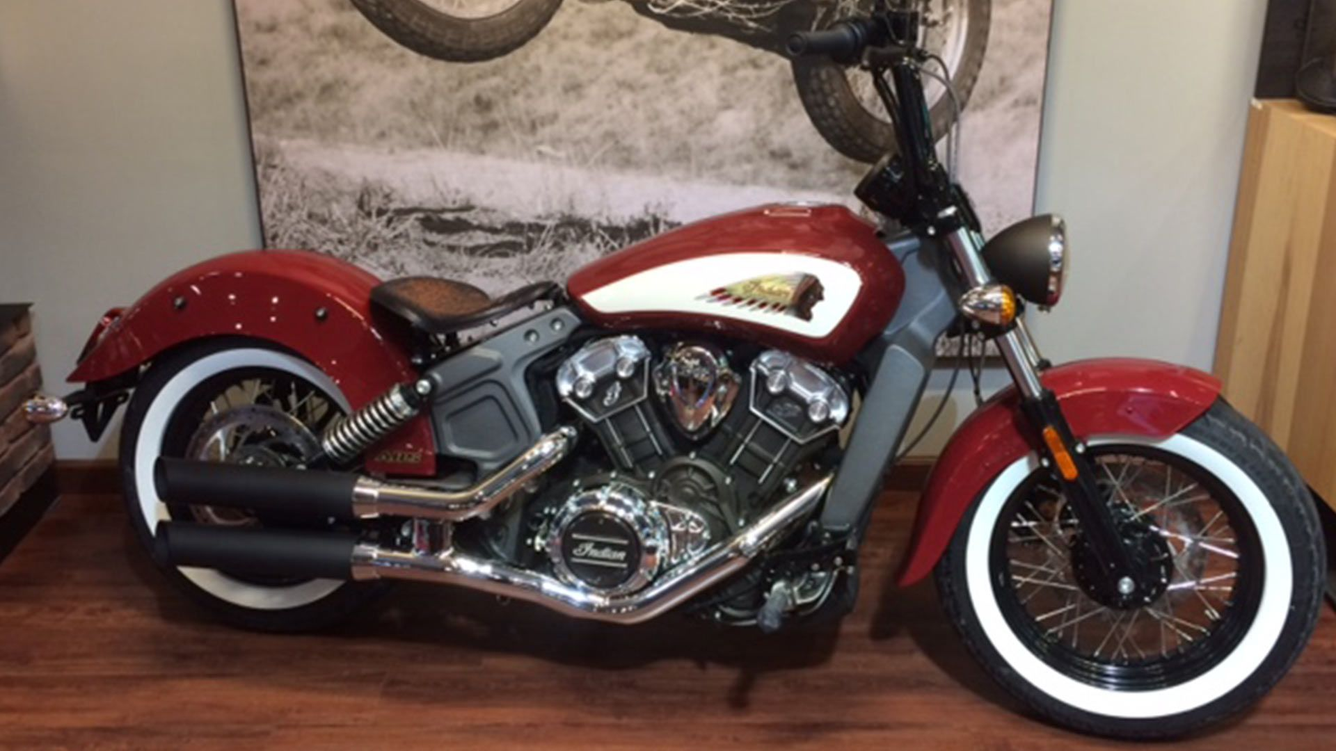 "2015-2017 Indian Scout 15x14"" leather spring tractor seat ..."