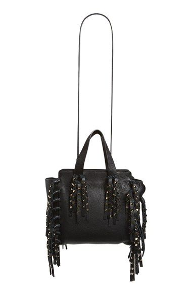 Valentino Studded Fringe Leather Tote Only  4075.00 On Sale Now ... 30b7f1443e436