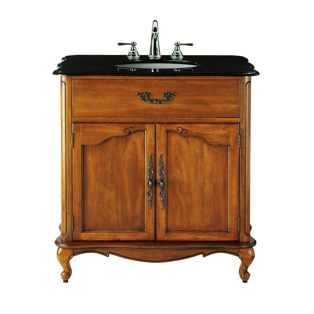 Delicieux Home Decorators Collection Provence 33 In. W X 22 In. D Bath Vanity In Blue  With Natural Marble Vanity Top In White 1112800310   The Home Depot. Single  Sink ...