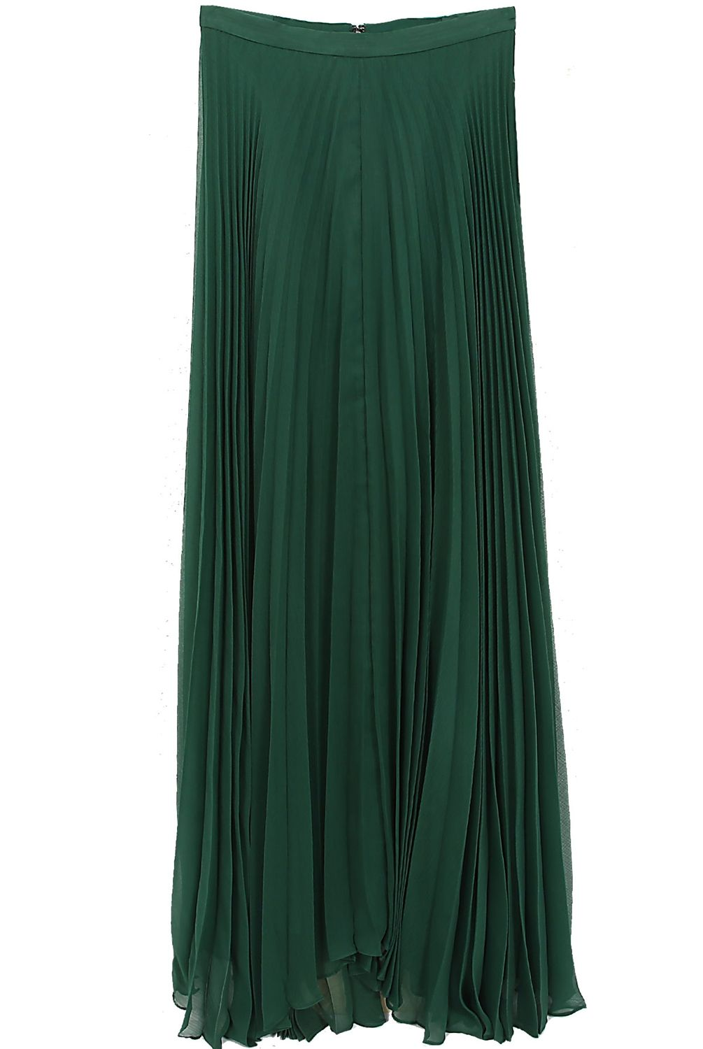 Heaven - Alice + Olivia  Shannon Pleated Maxi Skirt in Emerald