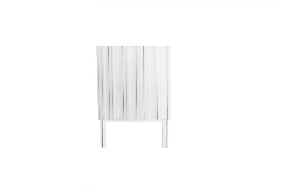 Vitt litet skåp Hermanus med ben, design @Björn Welander
