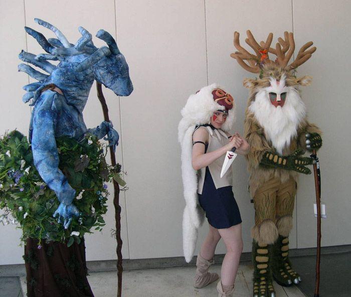 Forest Spirit Princess Mononoke Cosplay Chulos Y Destacan