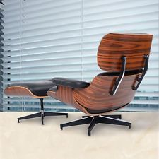 Eames Lounge Chair And Ottoman Luxury Armchair Footrest Rosewood