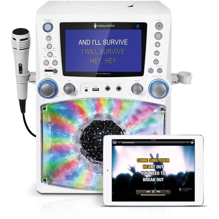 Singing Machine STVG785BTW Bluetooth Karaoke System with 7 Color Monitor and a Microphone - Walmart.com #karaokesystem