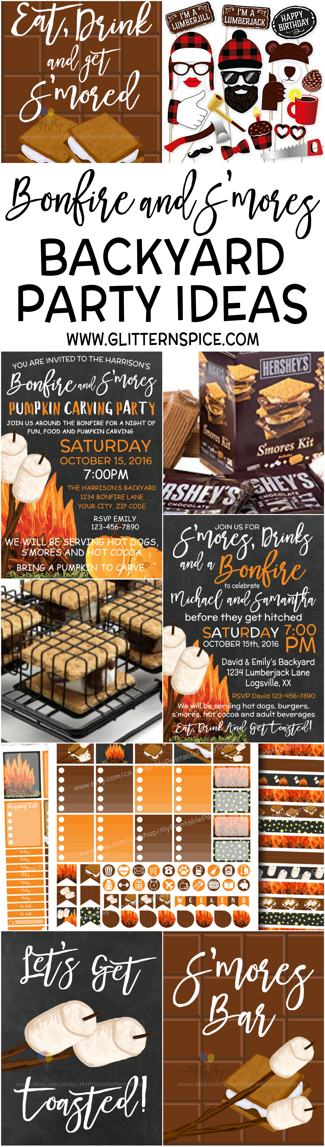 Fall Birthday Smores And Bonfire Backyard Party Ideas