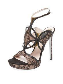 Lace Platform Sandal