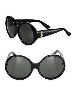 518d639e0 Saint Laurent SL M1 60MM Round Sunglasses - Black   Products in 2019 ...