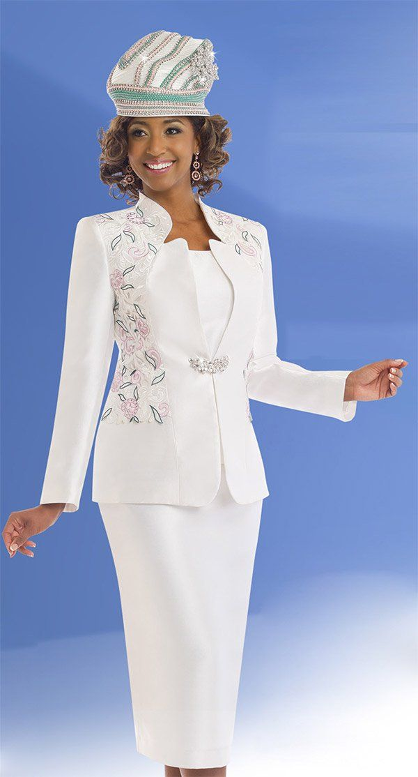 Donna Vinci 11539 Womens Skirt Suit For Church With ...