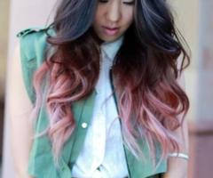 Perfect pink dip dye.