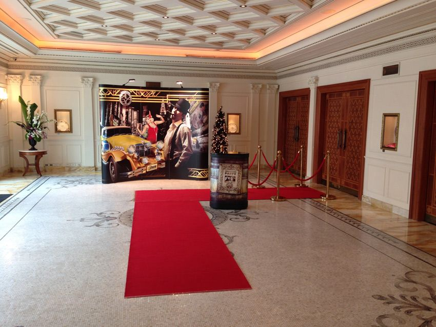 The Grand Foyer Party : The grand marble foyer at palazzo versace with great