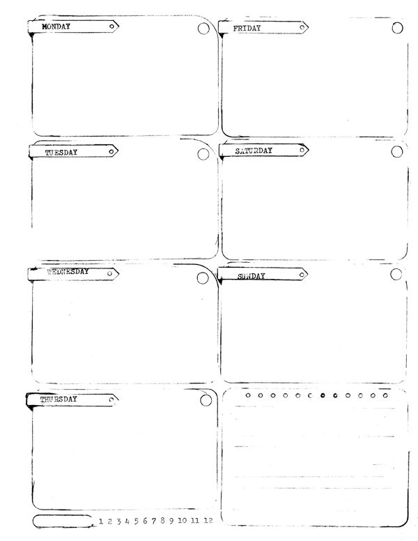 free download a single 85 x 11 weekly planner for jotting down all your wonderful weekly plans lists and doodles