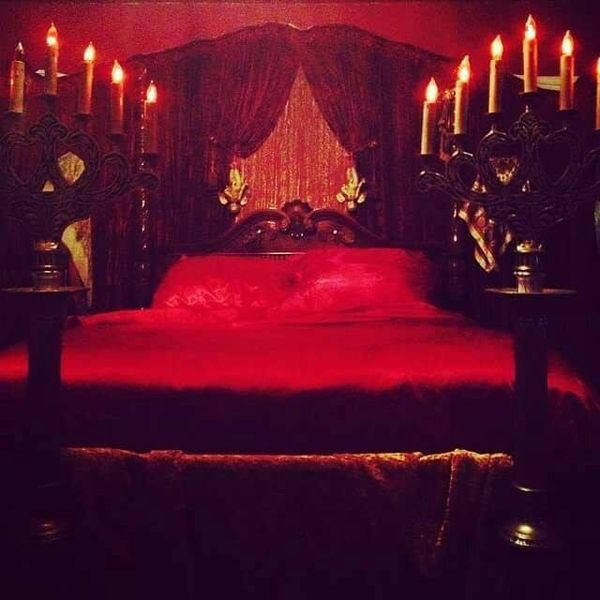 Blood Red Vampire Bed