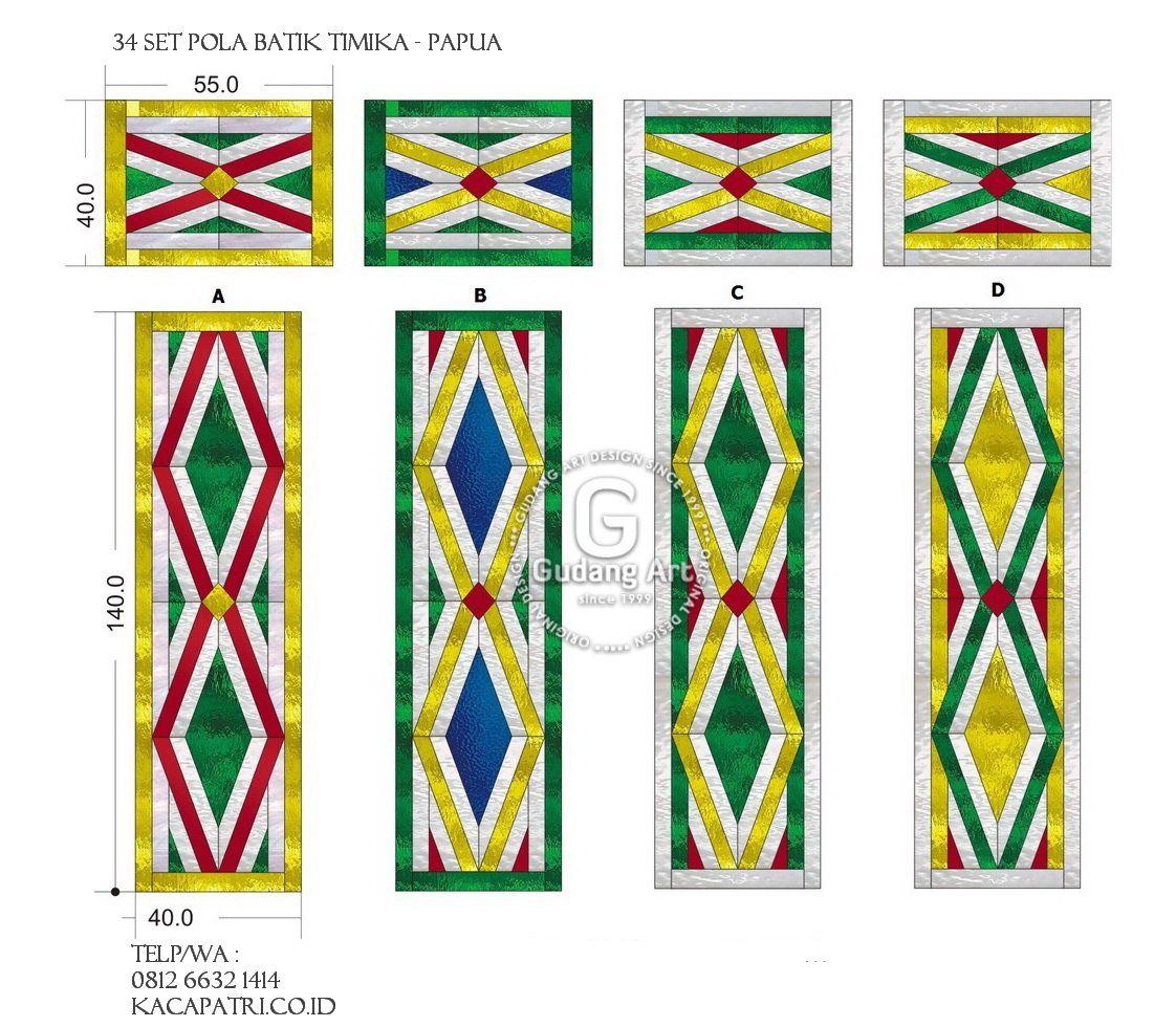 Motif Batik Papua Full Set Kaca Patri Patri Desain Kaca Patri