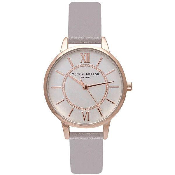 Olivia Burton Wonderland Watch Grey Lilac Rose Gold Silver