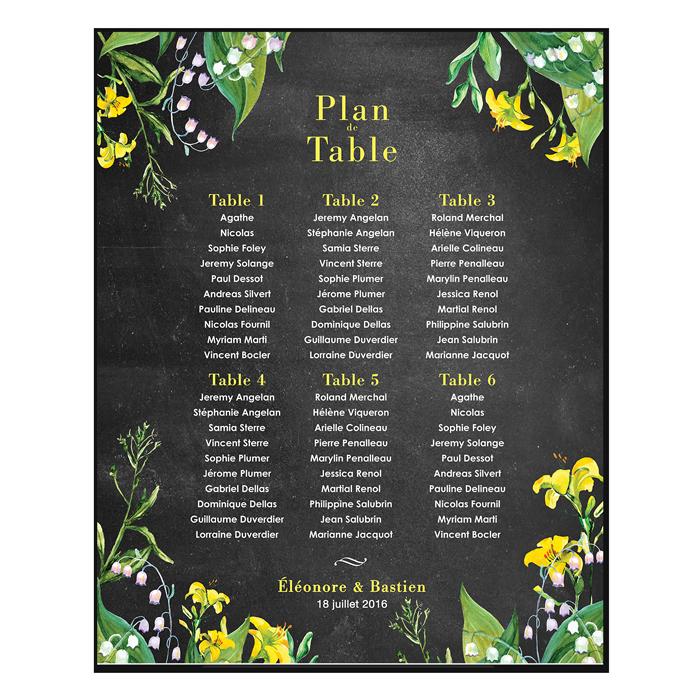 plan de table de mariage champ tre personnalis et imprim pepper joy studio pinterest. Black Bedroom Furniture Sets. Home Design Ideas