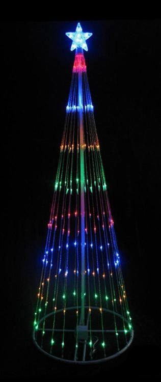12u0027 Multi Color LED Light Show Cone Christmas Tree Lighted Yard Art  Decoration