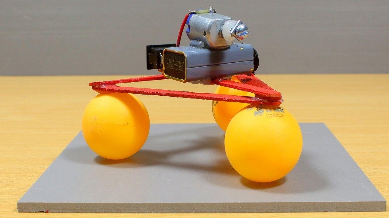 Pinpon Topu Ve Oyuncak Araba Motoruyla Basit Robot Yapımı Teknoloji