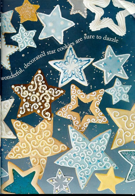 More star cookie decorating ideas... | Christmas Sweets ...