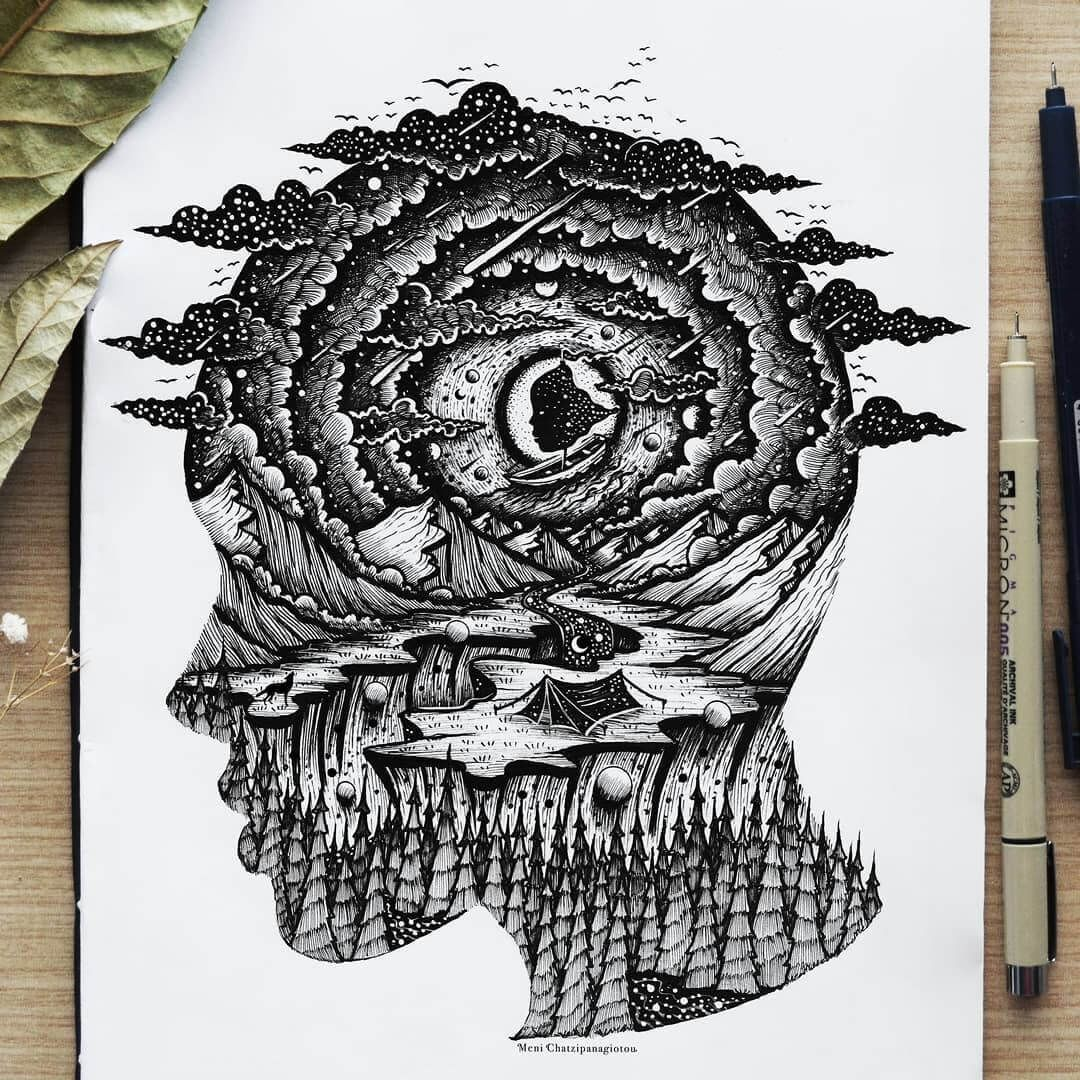 Fantasy And Surreal Ink Illustrations (With Images)