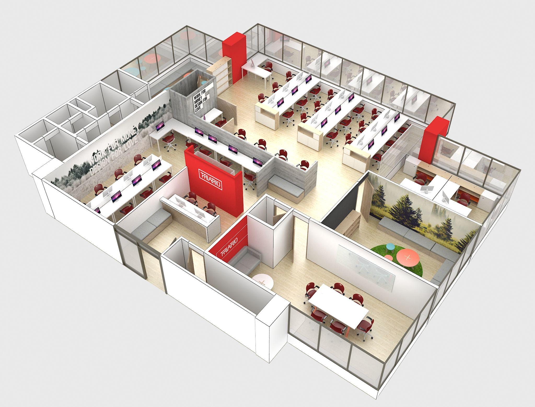 Dise o oficinas triario 1 design pinterest oficinas for Disenos para boutique