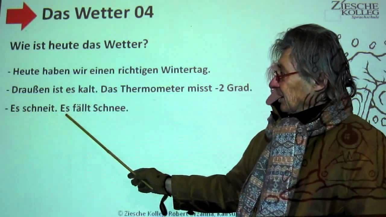 Deutsch lernen A1 Das Wetter 04