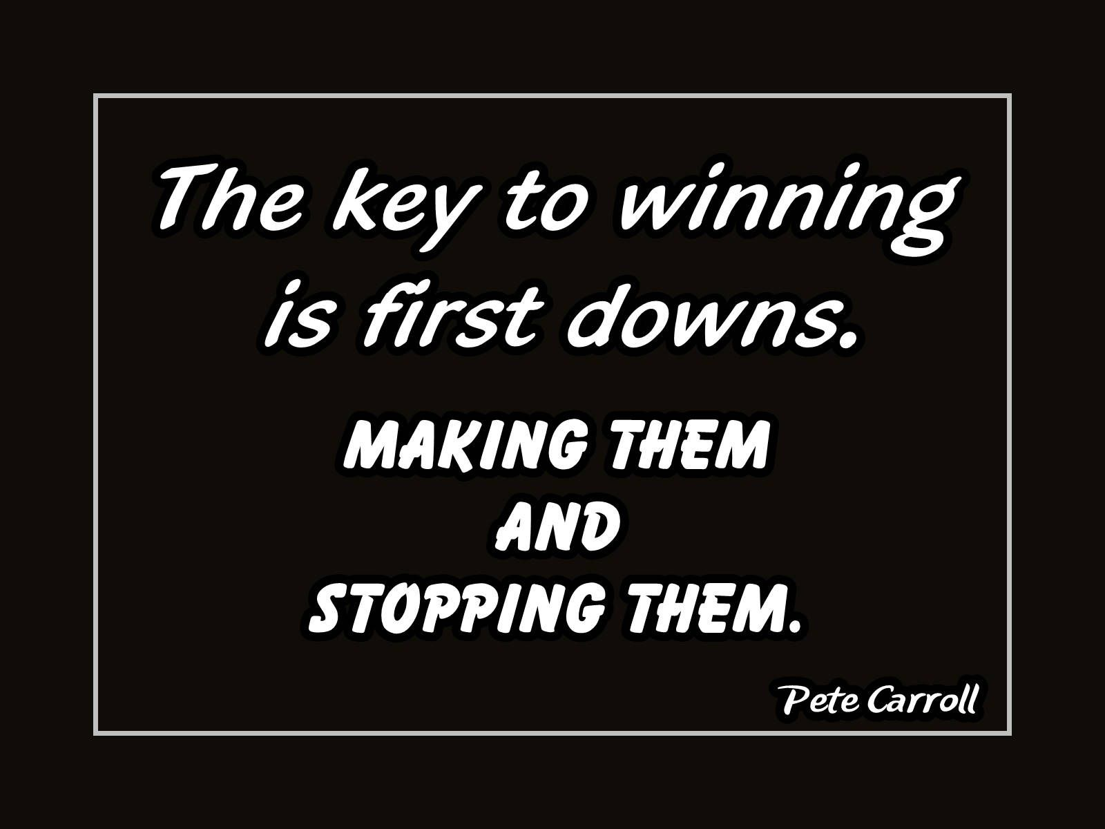 Pete Carroll Football Quote Motivation Poster, Coaching
