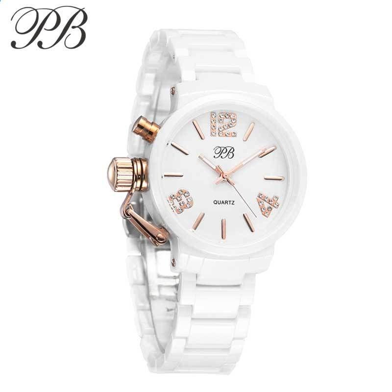 52be1d48e5d Princezna Butterfly módní hodinky Žena Designer hodinky Famous Brand  náramek Keramické hodinky pozlacené Nádherná náramkové hodinky HL628