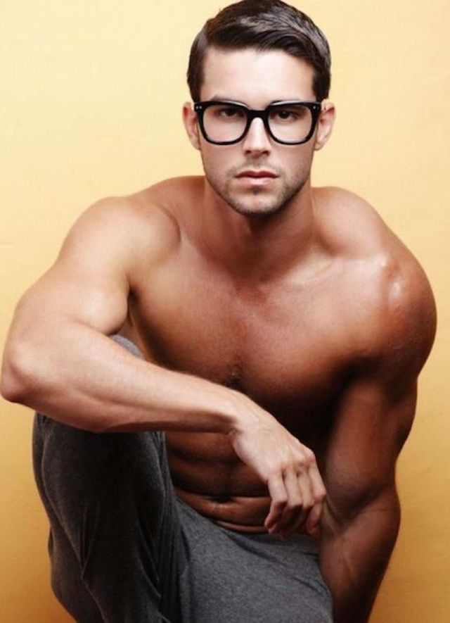 Sexy guy in glasses