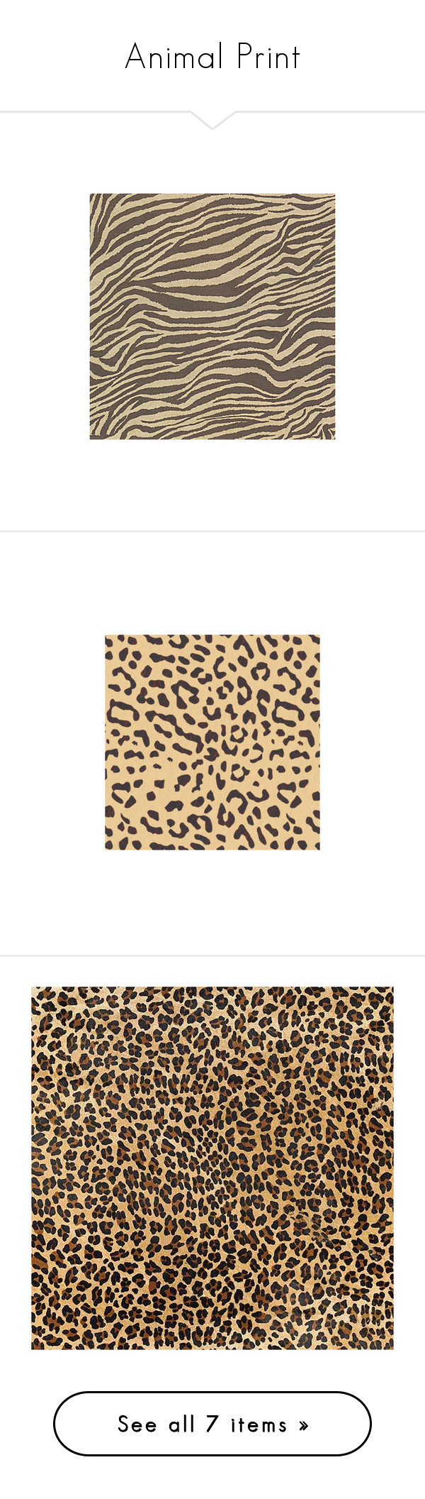"""""""Animal Print"""" by ohblack on Polyvore featuring"""