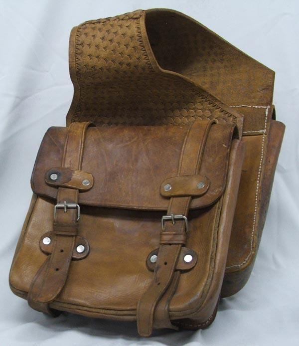 f2020affec Vintage Leather Cowboy Saddle Bags