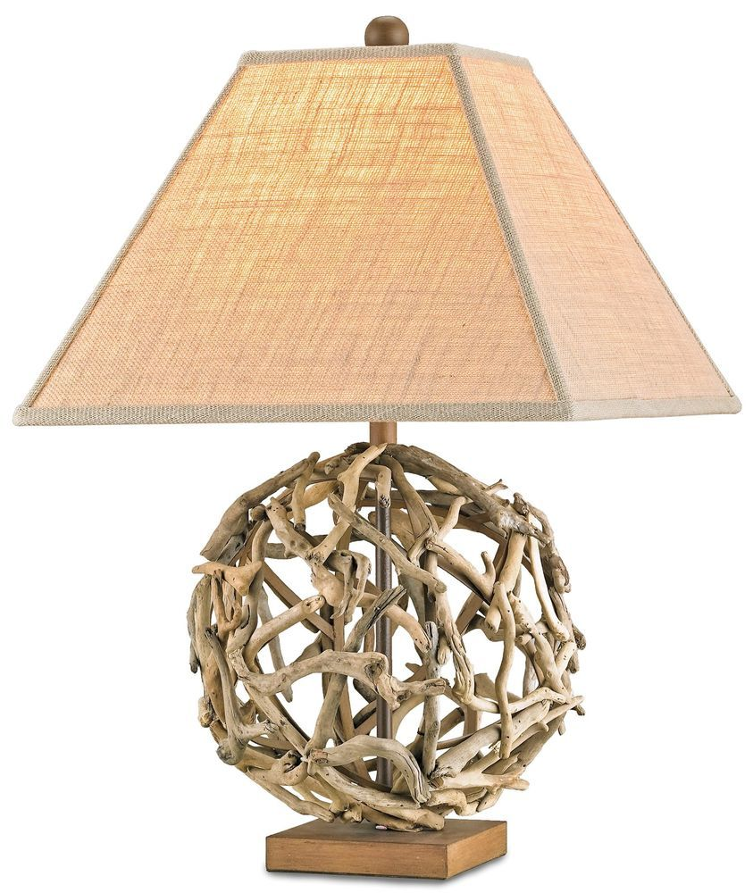Intertwining Gold Strands With Cream Trapesium Lampshade Suitable For Awesome And Cool Crystal Spheres Ta Driftwood Chandelier Driftwood Lamp Driftwood Art Diy