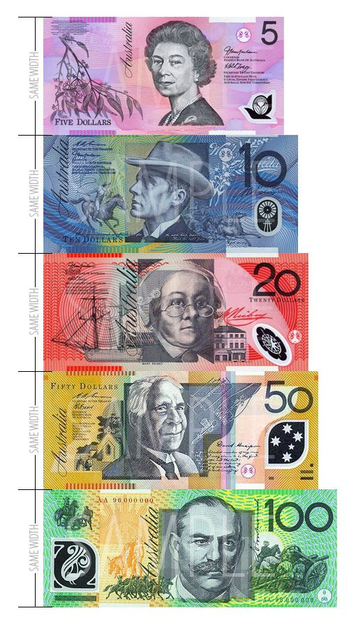 Australian Plastic Notes Banknote Currency Money