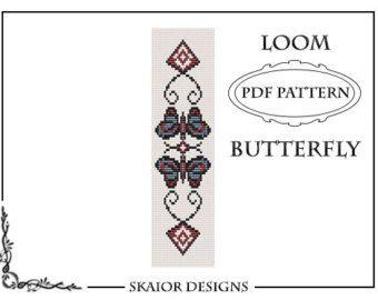 Loom Beading Pattern Loom Bracelet Instant Download PDF by