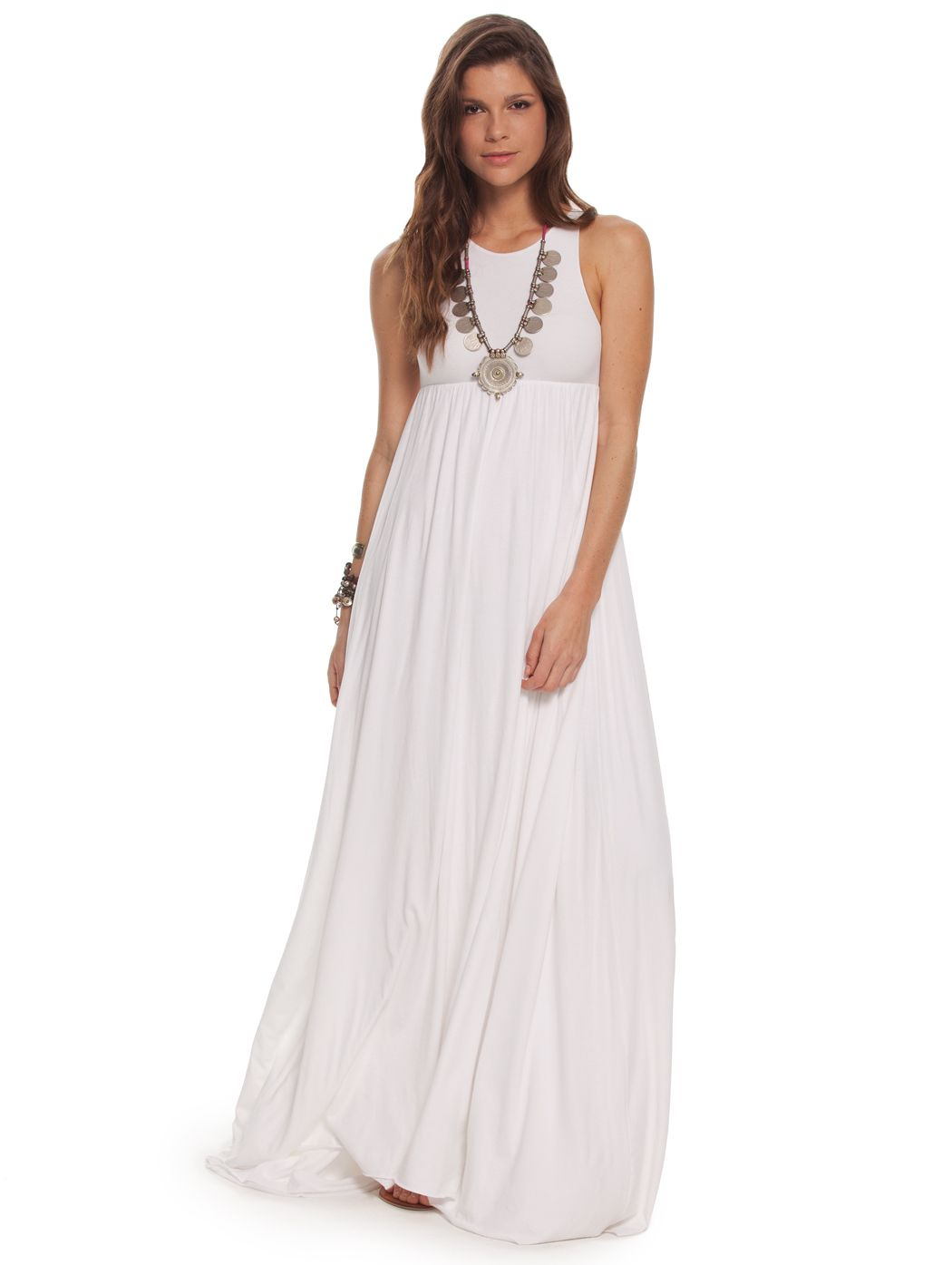 A billowing white maxi dress our white josephine dress will catch