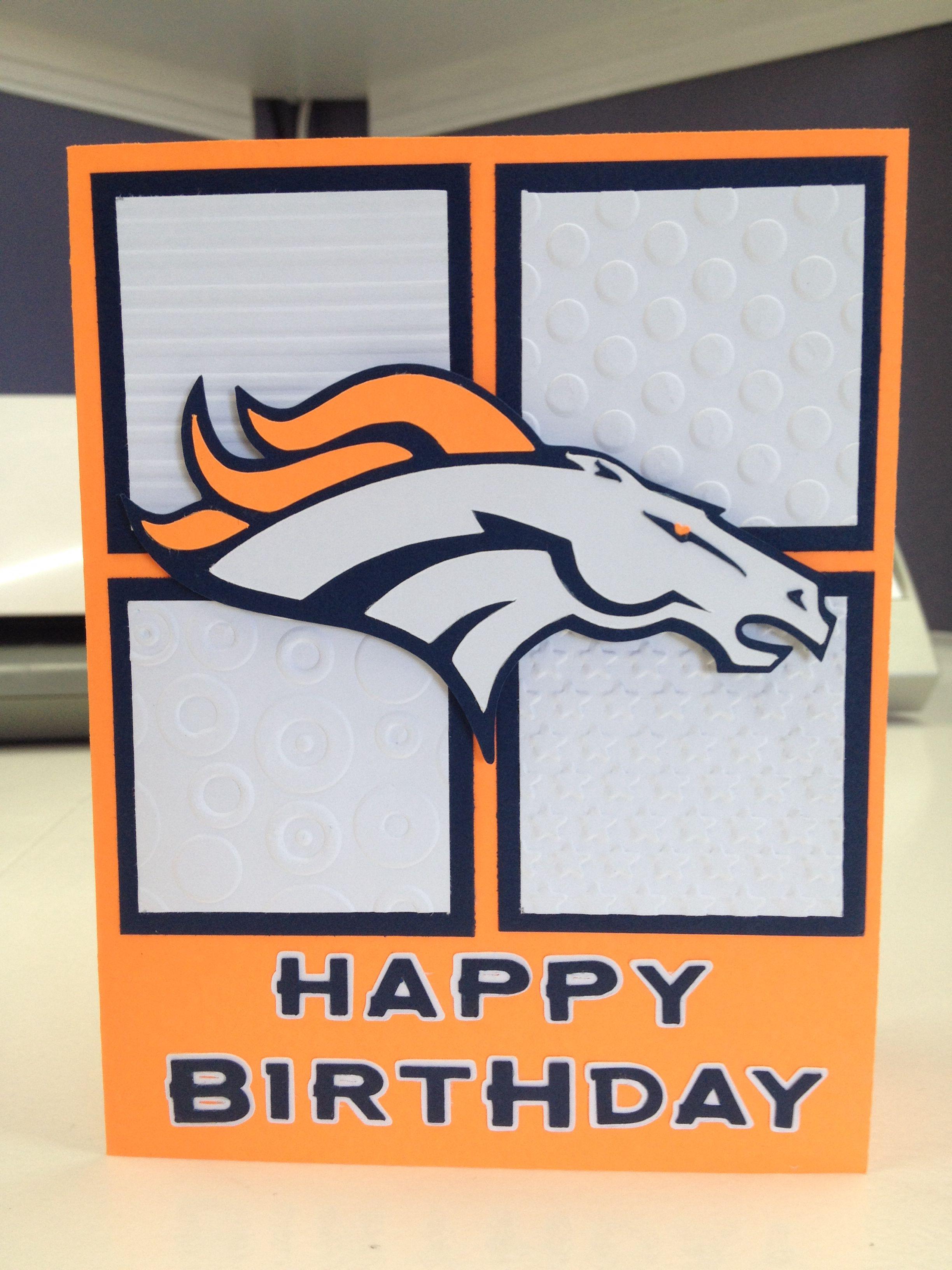 Denver Broncos Card Broncos Silhouette Cameo Pinterest Cards