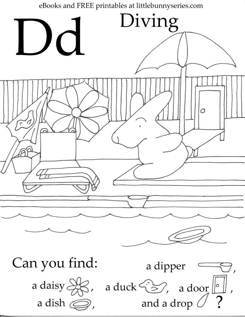 Letter D Seek And Find Pdf Letter D Worksheet Preschool Letters Letter D