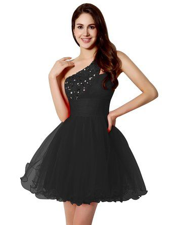 1c4e7c30ed Amazon.com  Clearbridal Women s 2016 A Line One Shoulder Short Prom  Homecoming Dress CSD230  Clothing
