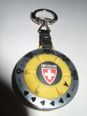 Vintage Swiss Made Memo Park 1 Hour Timer Keychain -- Antique Price