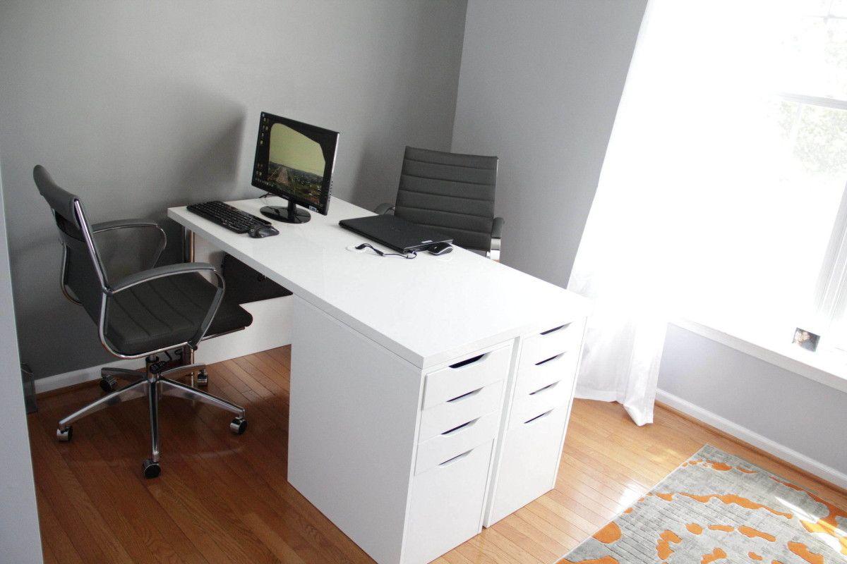 Ikea Minimalist Two Person Desk Hacks