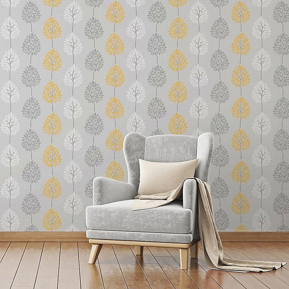 Alder Tree Wallpaper In 2020 Living Room Grey Wallpaper Li