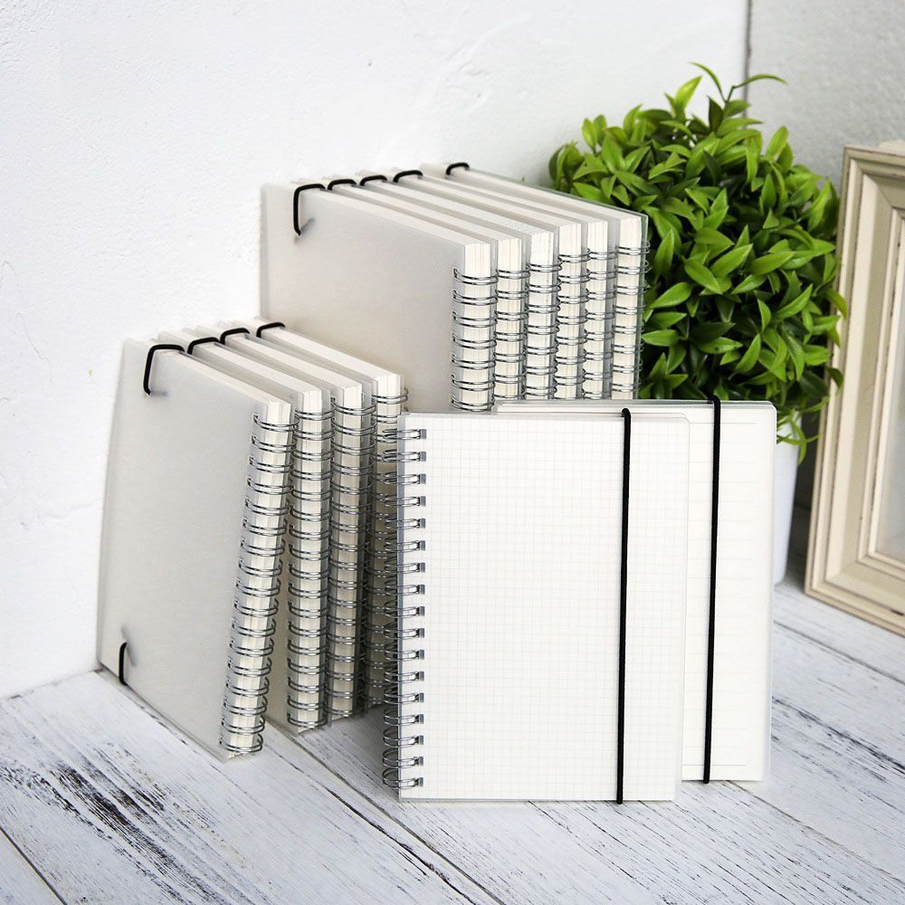 Details About Spiral Coil Book Diary Notebook A5 A6 Transparent