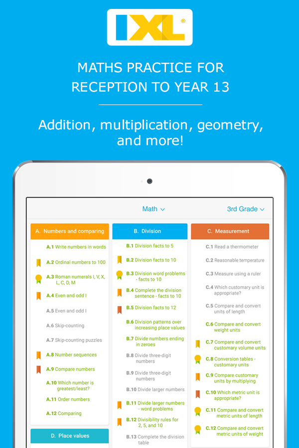 UK maths practice: Fun website and app for Reception to Year 13 ...